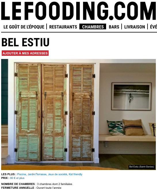Bel Estiu, spotted and selected by the guide LE FOODING.COM
